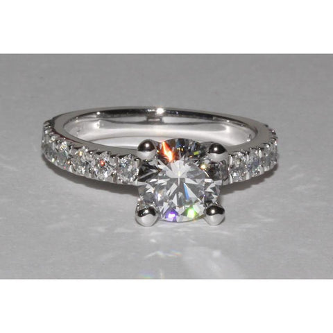 2 Ct. Gorgeous Sparkling Diamond Ring Solitaire With Accents Jewelry New Solitaire Ring with Accents