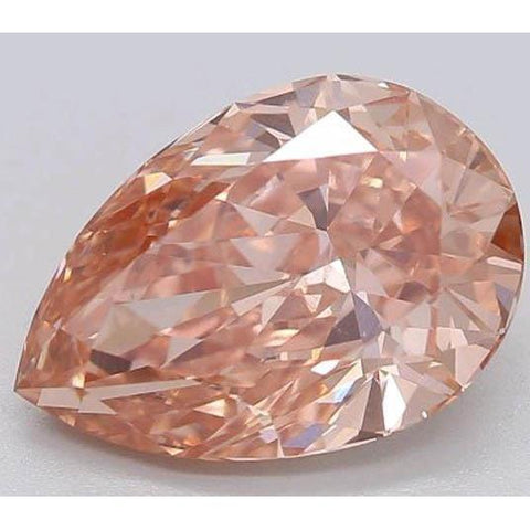 2 Ct Intense Orange Pear Cut Loose Diamond Diamond