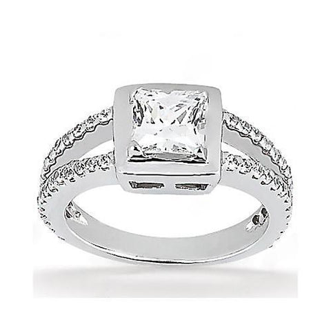 2 Ct. Princess Cut Diamond Engagement Ring Gold New Engagement Ring