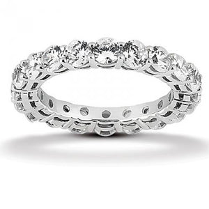 2 Ct Round Diamond Eternity Wedding Band Eternity Band