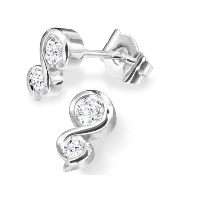 2 Ct Round Two Stone Diamond Stud Earring Stud Earrings