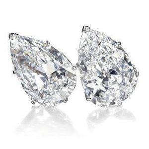 2 Ct. Stud Earring Fine Jewelry Gold Pear Cut Diamond Stud Earrings