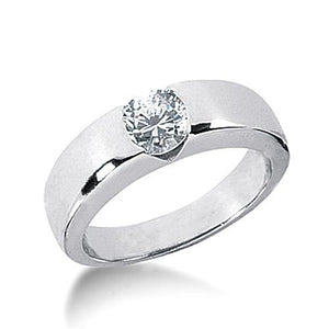 2.0 Carat Gorgeous Diamond Solitaire Ring Gold Mens Ring