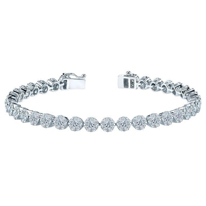 20 Carats White Round Diamond Tennis Bracelet White Gold Jewelry Tennis Bracelet