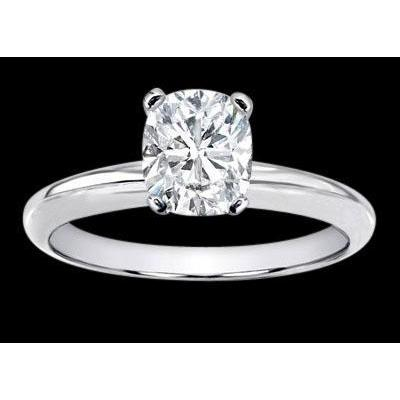 2.00 Carat H Vs1 Cushion Diamond Solitaire Ring White Gold 14K Solitaire Ring