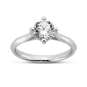 2.00 Carat Prong Setting Round Brilliant Diamond Solitaire Ring Solitaire Ring