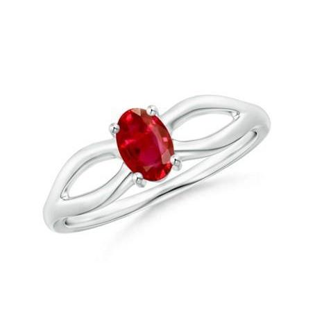 2.00 Carat Solitaire Prong Set Ruby Aaa Wedding Ring White Gold 14K Gemstone Ring