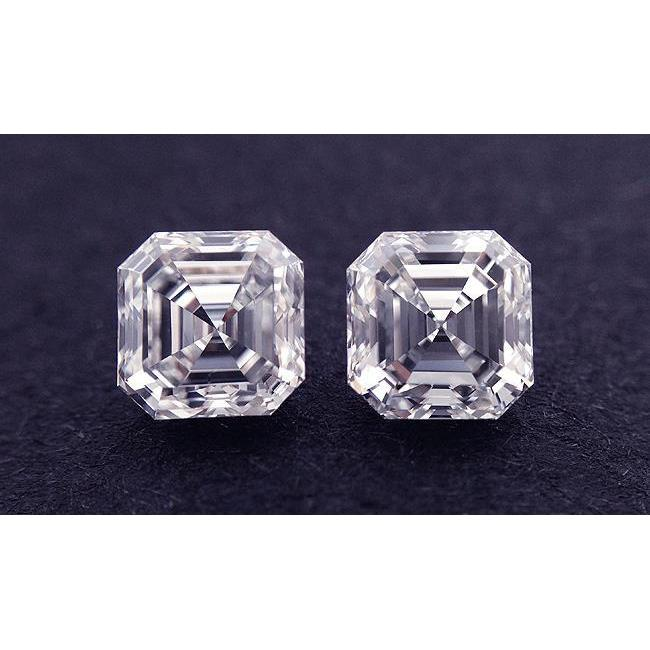 2.00 Carats Sparkling G Vs1 Asscher Cut Pair Loose Diamond Natural Diamond
