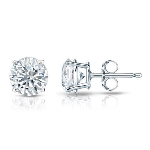 2.00 Ct Round Brilliant Cut Diamonds Ladies Studs Earrings White Gold Stud Earrings