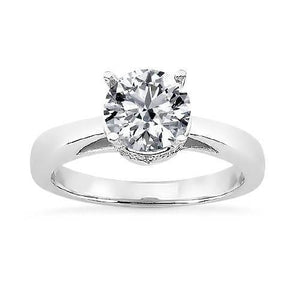 2.00 Ct Round Brilliant Diamond Solitaire Ring White Gold Solitaire Ring