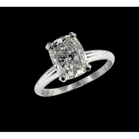 2.01 Carat Cushion Diamond Engagement Ring Solitaire Beautiful Jewelry F Vs1 Solitaire Ring