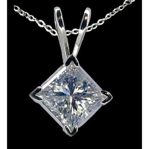 2.01 Carat Diamond Solitaire Pendant Locket With Chain Pendant