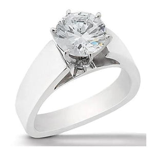 2.01 Carat Solitaire F Vs1 Diamond Ring White Gold Solitaire Ring