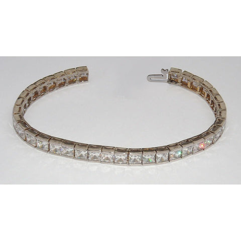 20.16 Carats. Diamonds F/G Vs2/Si1 Tennis Bracelet Princess Diamonds Tennis Bracelet