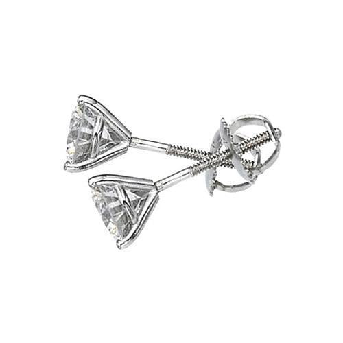 2.02 Carats G Si1 Platinum Martini Style Diamond Studs Stud Earrings