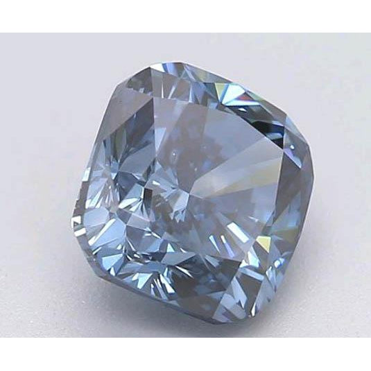 Diamond 1 Carat Intense Blue Cushion Cut Loose Diamond