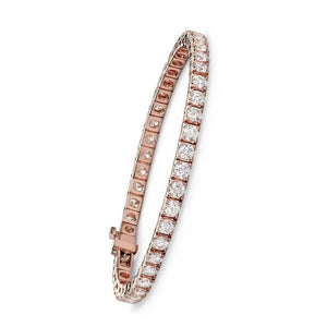 21.7 Ct Rose Gold Round Cut Diamond D/E Vvs1/Vvs2 Ladies Tennis Bracelet Jewelry Tennis Bracelet