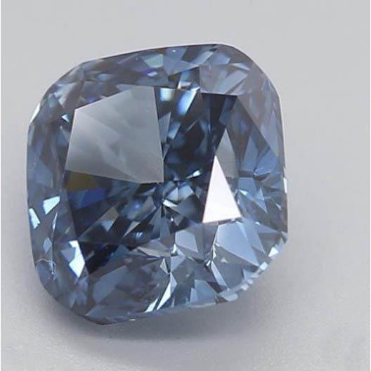 Diamond 1.62 Ct Deep Blue Cushion Cut Loose Diamond