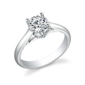 2.20 Carats Gorgeous Round Cut Diamonds Solitaire Ring 14K White Gold Solitaire Ring