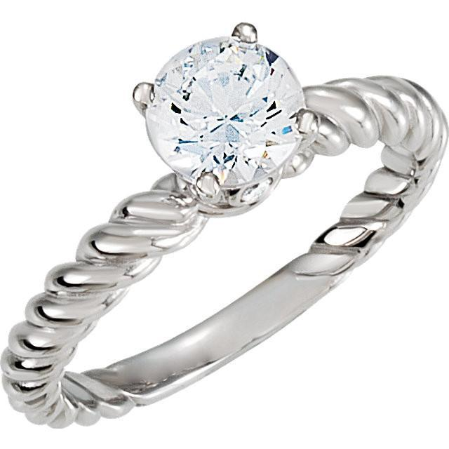 2.21 Carat Round Brilliant Diamond White Gold 14K Solitaire Ring Sparkling Solitaire Ring