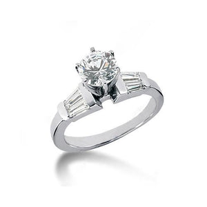 2.25 Carat Diamonds Baguette Cut Three Stone Engagement Ring Three Stone Ring