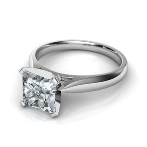2.25 Carat F Vs1 Solitaire Diamond Anniversary Ring 14K White Gold Solitaire Ring