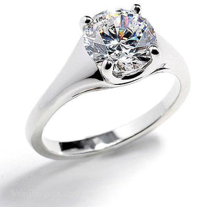 2.25 Ct Brilliant Cut Solitaire Prong Set Diamond Wedding Ring Solitaire Ring