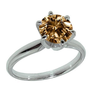 2.25 Ct. Cognac Diamond Jewelry Gemstone Ring Gemstone Ring