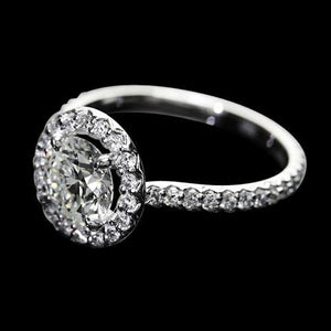 2.25 Ct. Diamonds Halo Setting Ring Wedding Jewelry New Halo Ring