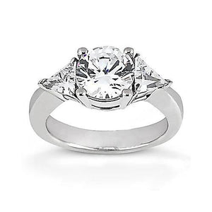2.25 Ct. Diamonds Three Stone Engagement Ring White Gold Three Stone Ring