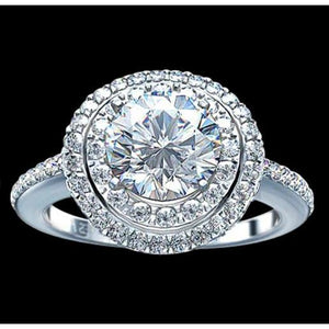 2.25 Ct. Halo Diamonds Engagement Ring White Gold Halo Ring