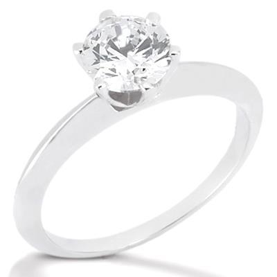 2.25 Ct. Ring F Vs1 Diamonds Solitaire White Gold Solitaire Ring