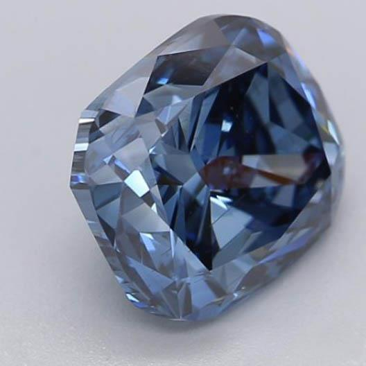 Diamond 2.2 Ct Intense Blue Cushion Cut Loose Diamond