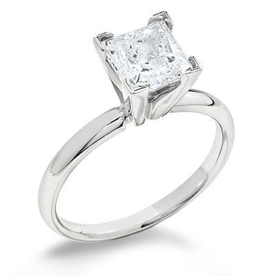 2.25Ct Princess Cut Solitaire Diamond Wedding Ring New Solitaire Ring