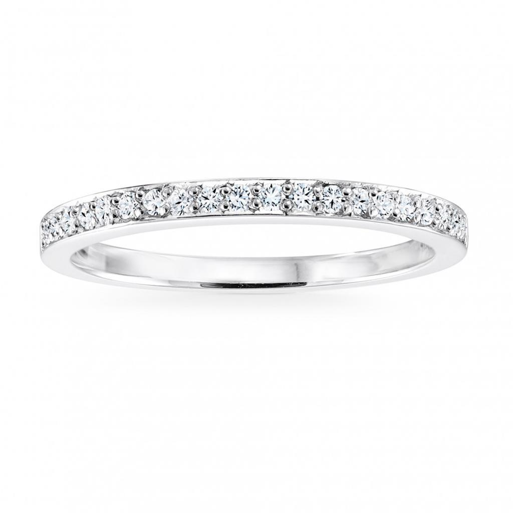 2.4 Ct Prong Set Diamond Women Anniversary Band 14K White Gold Band