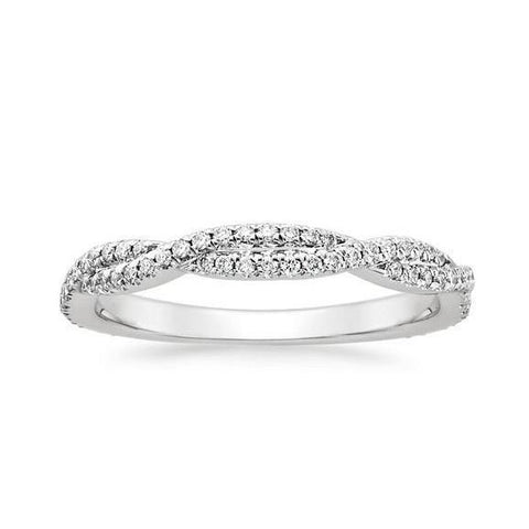 2.4 Ct Sparkling Round Cut Diamond Wedding Band Band