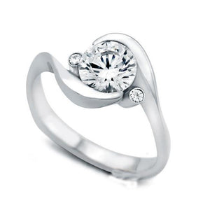 2.40 Carats 3 Stone Style Diamonds Engagement Ring White Gold 14K Three Stone Ring