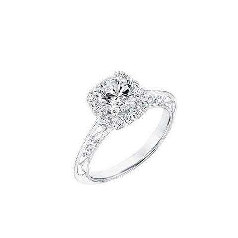2.40 Ct. Diamonds Antique Look Ring Halo White Gold Halo Ring