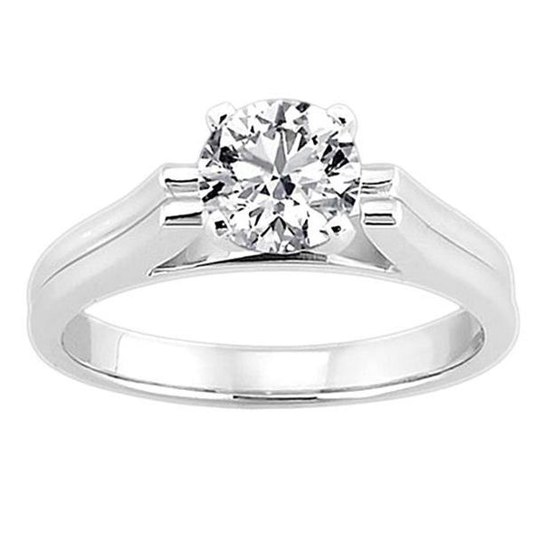 2.5 Carat Diamond Solitaire Ring H Si1 White Gold New Solitaire Ring