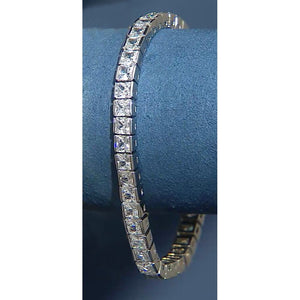 25 Carat Princess Cut Diamond Tennis Bracelet White Gold 14K Jewelry Tennis Bracelet