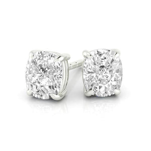 2.5 Carat Round Cut Halo Dangle Diamond Lady Earring White Gold Halo Stud Earrings