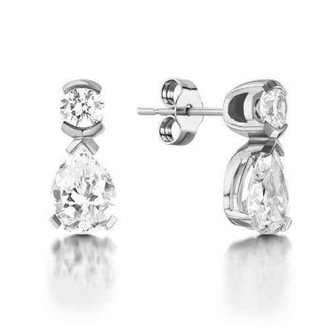2.5 Carats Pear And Round Cut Ladies Drop Earring Drop Earrings