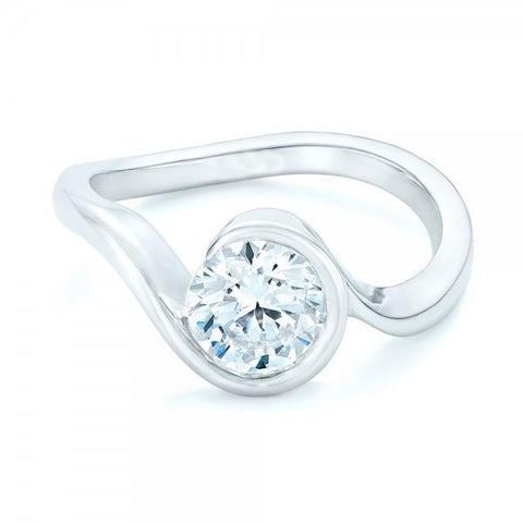 2.5 Ct Big Round Cut Diamond Solitaire Engagement Ring Solitaire Ring