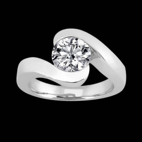 2.5 Ct. Diamond Wedding Ring Solitaire White Gold Solitaire Ring