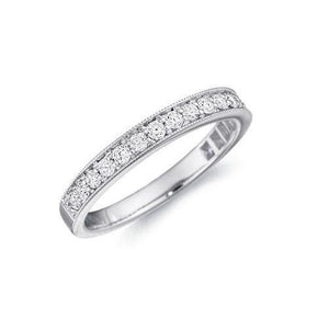 2.5 Ct Round Brilliant Cut Diamond Eternity Band 14K White Gold Eternity Band