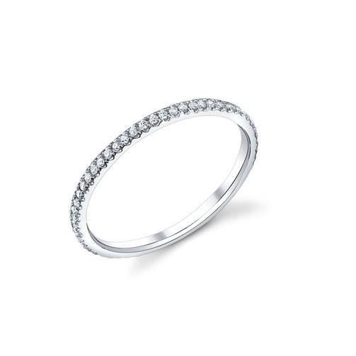 2.5 Ct Round Cut Diamonds Eternity Band 14K White Gold Eternity Band