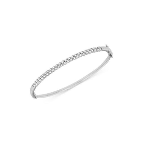 2.5 Ct Round Cut Diamonds Women Bangle Bracelet 14K White Gold Bangle