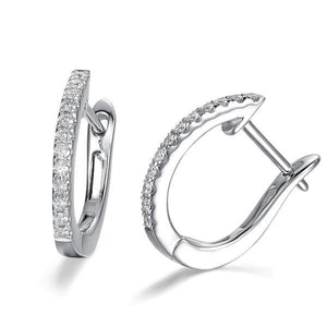 2.5 Ct White F Vvs1 Round Diamond Hoop Earring Hoop Earrings