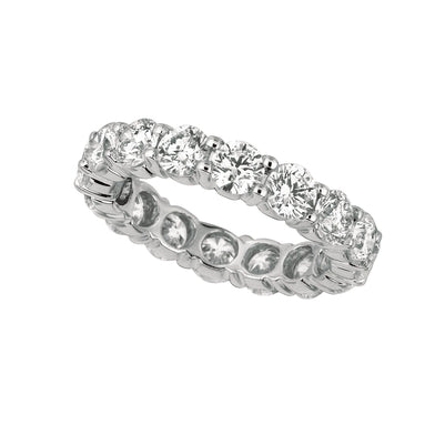 25 Pointer Diamond Eternity Band 4 Carats 18K White Eternity Band