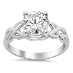 2.50 Carat Big Round Diamond Engagement Ring White Gold 14K Solitaire Ring